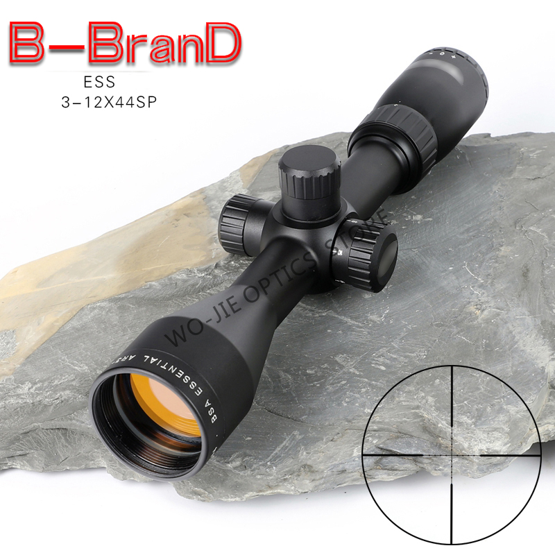 BSA ESS 3-12X44 SP Tactical Riflescope Sniper Optic Sight Hunting Scopes Rifle Air Red Dot Airsoft Rifle Accessories