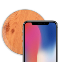 Universal Bamboo Wood Wooden Qi Wireless Charger Pad Fast Charging Pads for iPhone X 8 Samsung Galaxy S9 Plus S8 S7 edge