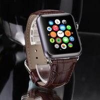 جلد طبيعي إبزيم حزام المعصم باند حزام ل التفاح ساعة iwatch 38 ملليمتر 42 ملليمتر watchband ل iwatch مع موصل