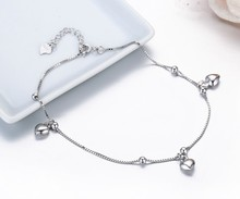 Classic Heart Charms Women's Anklet
