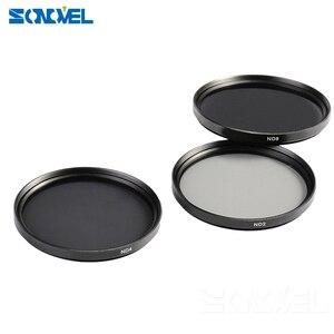 Image 5 - 49 52 55 58 62 67 72 77 MM Grijsfilter Lens Set Kit + zonnekap + lensdop + Cleaning kit ND2 ND4 ND8 ND 2 4 8 voor lenzen