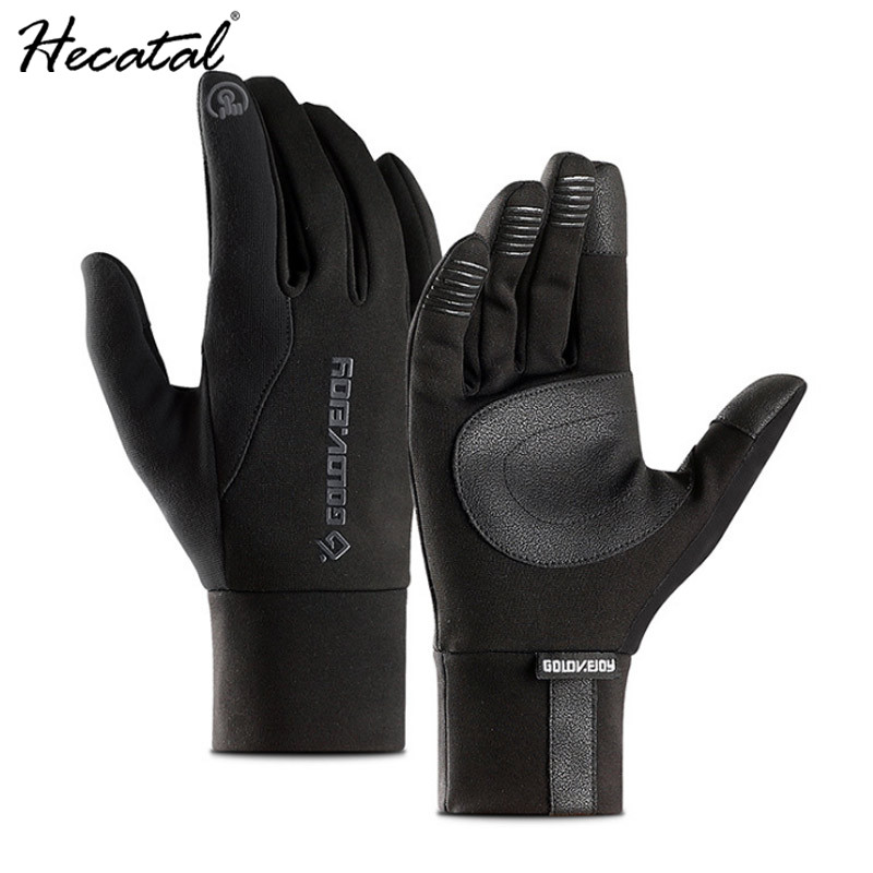 Men Sports Gloves Winter Warm Thicken Outdoor Riding Gloves Hiking Tounch Screen Waterproof Gloves Quality PU Leather Mittens