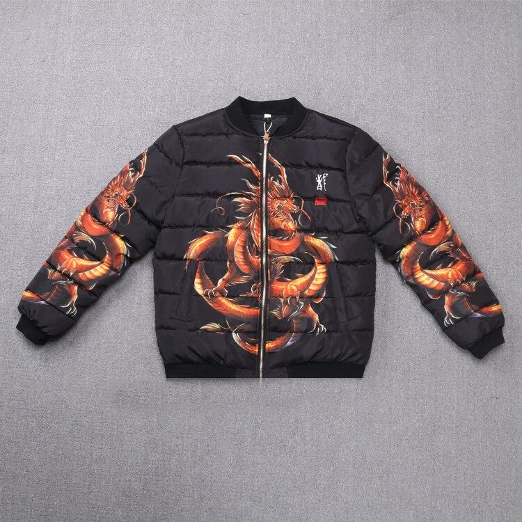 Motif Veste Parkas Vêtements Casual Mode Survêtement Hiver Impression D'hiver Numérique Dragon Nouvelle 3d 2019 qAPwvRc