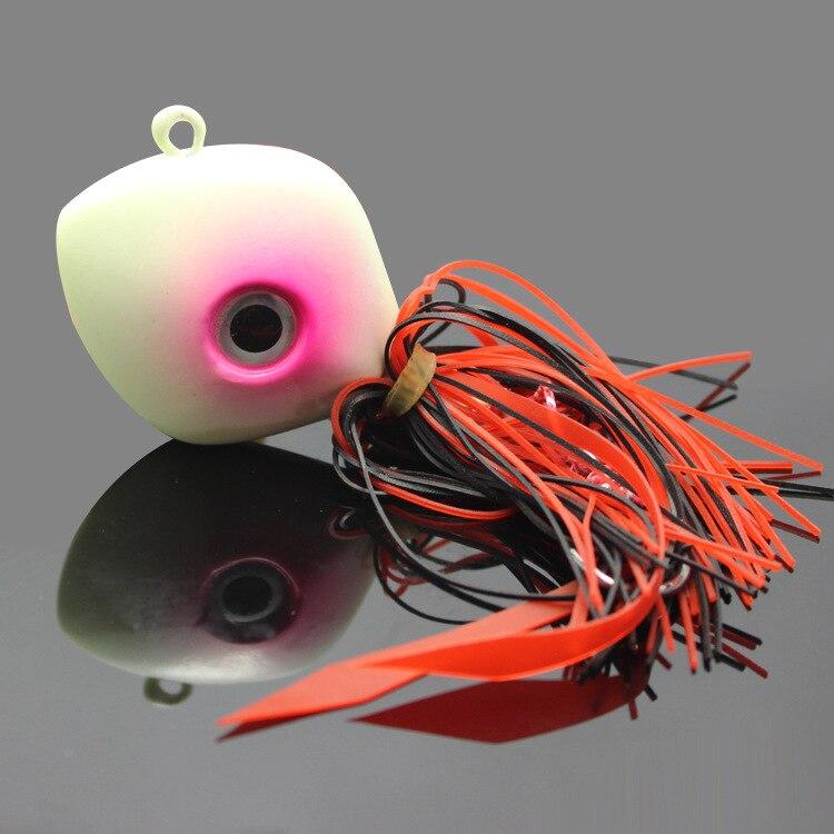 AZJ 5 pièces/lot leurre lumineux pieuvre pêche bateau appât 3D poisson yeux Jig pêche leurre métal appât plomb tête appât 150G/250G