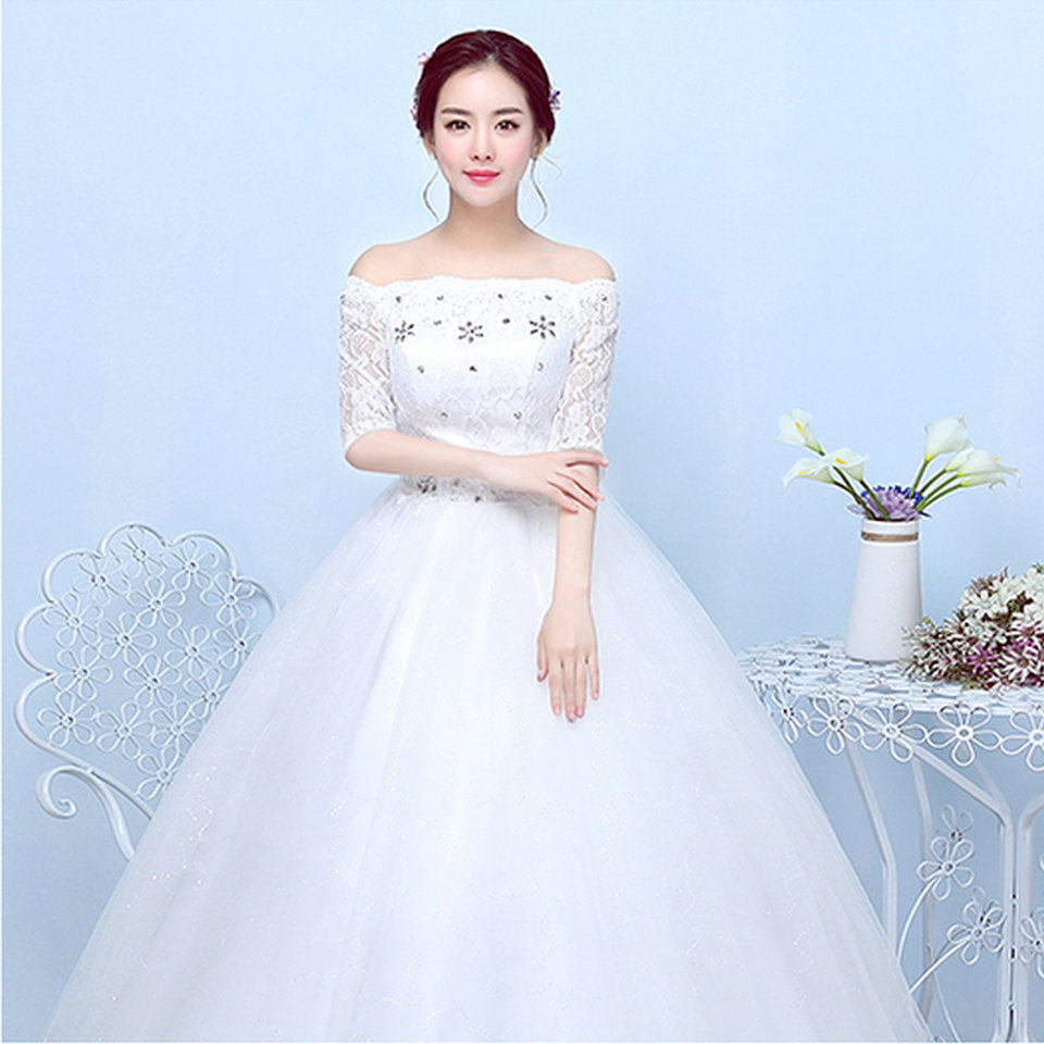 Cheap Ivory Wedding Gowns 2018 New Plus Size Formal Long White ...