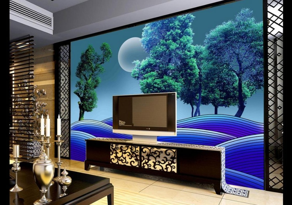 Custom wallpaper for walls 3 d photo Hand-painted beautiful scenery background wall 3d nature wallpapers for living room modern custom wallpaper for walls 3 d photo wall mural pastoral country road tv walls 3d nature wallpapers for living room