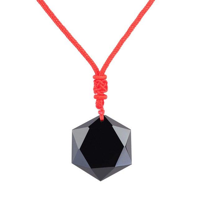 Купить натуральный черный обсидиан энергетический камень шестиконечная