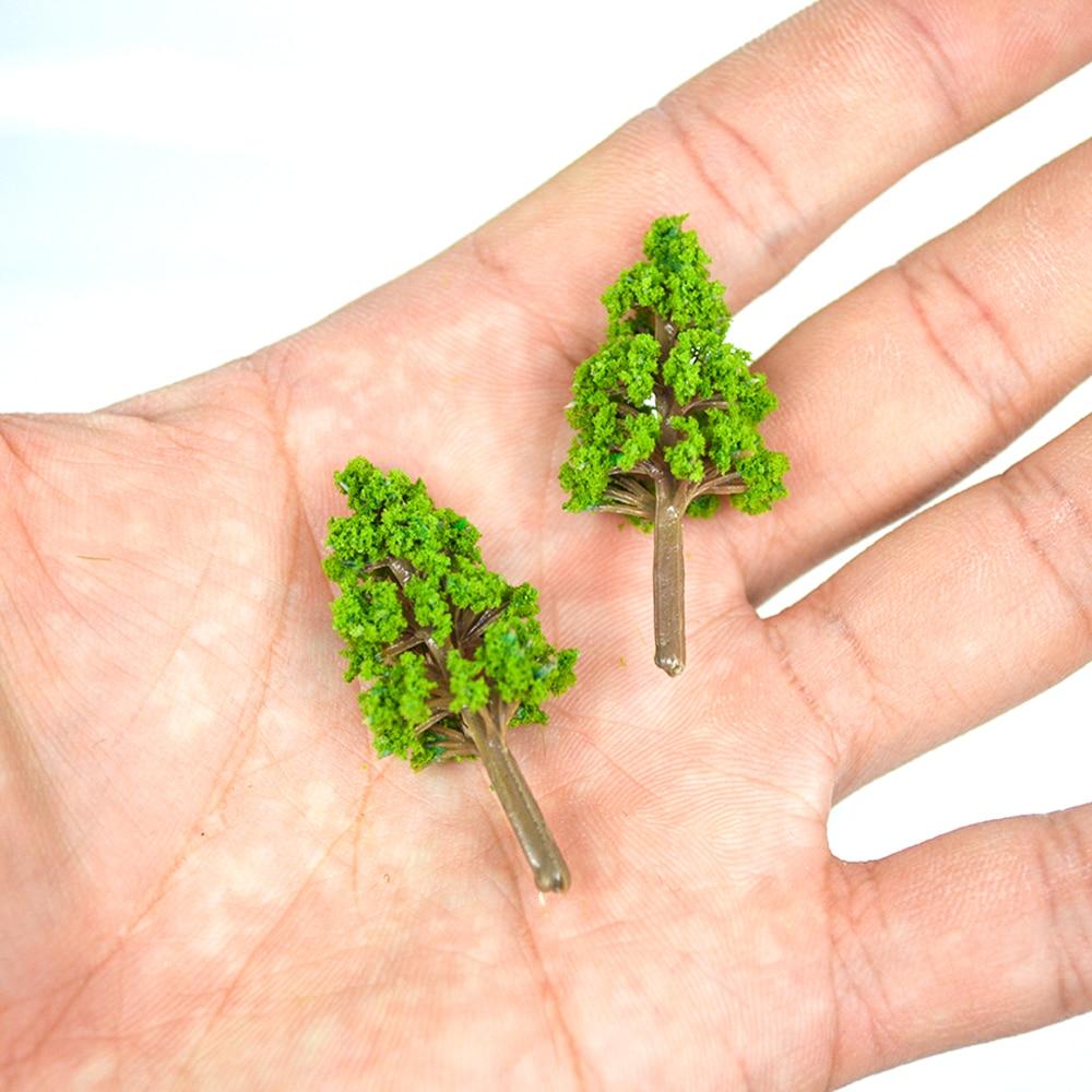 20 шт. миниатюрные деревья 3 см-4 см, пейзаж, модель поезда, масштабные деревья HO масштабная модель поезда наборы