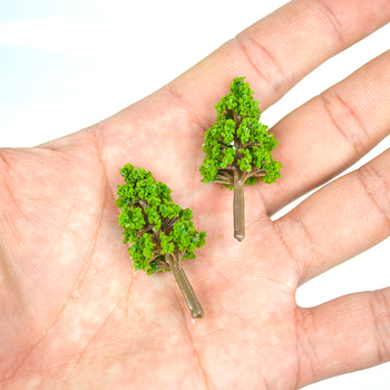 20PCS Miniature Trees 3cm-4cm Scenery Landscape Train Model Scale Trees HO scale model train kits 24sets lot creative cute cookie lovely colored donut eraser set school office correction supplies stationery