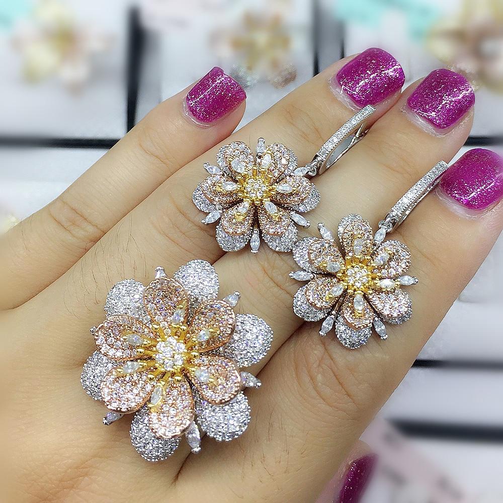 GODKI Fashion Luxury Super Shiny Gold Color AAA Cubic Zirconia Women Width Baguette Earring Ring SetGODKI Fashion Luxury Super Shiny Gold Color AAA Cubic Zirconia Women Width Baguette Earring Ring Set