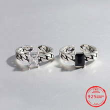 2019 Hot Sale 925 Sterling Silver Zircon Finger Ring For Women Original Brand Engagement Jewelry Gifts