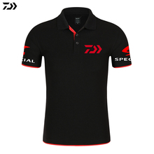 DAIWA Clothing Brand Fishing Polo Tee Quick Drying Breathable Outdoor Sports Men Tshirt Fishing Short Sleeve Top Fishing T Shirt