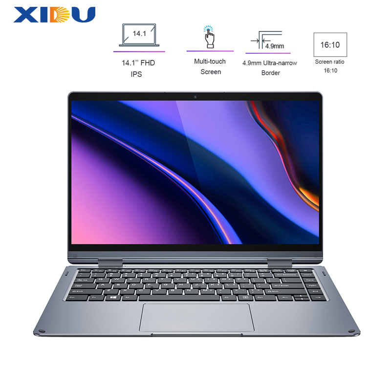XIDU 14.1 Polegada Window10 6GB ROM 128GB de RAM Laptop Teclado Retroiluminado 1080 IPS Tela de Toque Notebook Ultra 512G SSD Slot Para Cartão