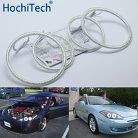 Ultra bright SMD white LED angel eyes halo ring kit daytime running light DRL for Hyundai Tiburon 2007 2008 GK FL2