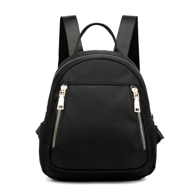 Fashion Nylon Small Backpack Women Waterproof Flower Travel Multi-function Beach Soft Shoulder School Bag Bagpack