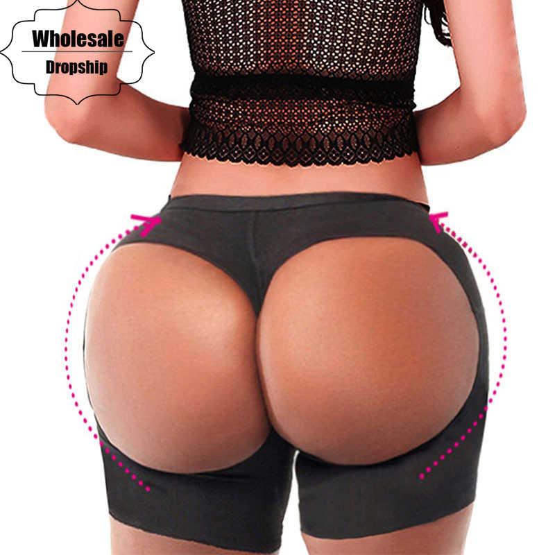 47b9495c2 NINGMI Sexy Underwear Control Panties Women Butt Lifter Seamless Booty Push  Up Short Waist Trainer Body