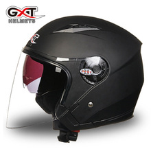 GXT Motorbike Helmet Half Face Daul Visor Motorcycle Helmets Four Season General UV Protection Electric Safety Helmet Moto Casco