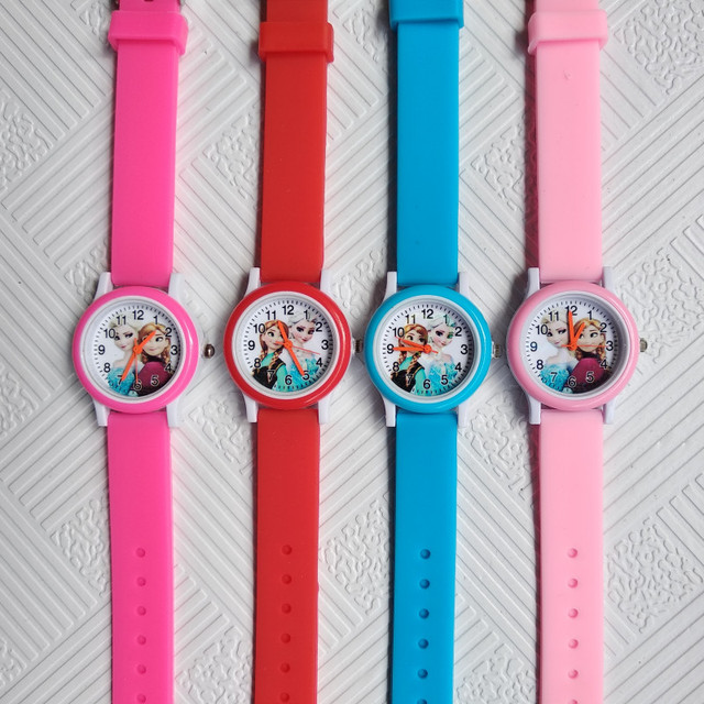First Release 2019 New Children Watch ELSA ANNA Princess Women Watches Waterproof Fashion Kids Cute Girls Rubber Quartz Watch