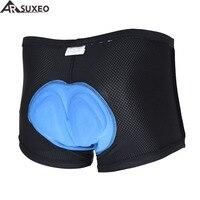 ARSUXEO Vélo Vélo Vélo de montagne vélo de route équitation silicone bavoir rembourré sous-vêtements shorts caleçons sous-vêtements 005