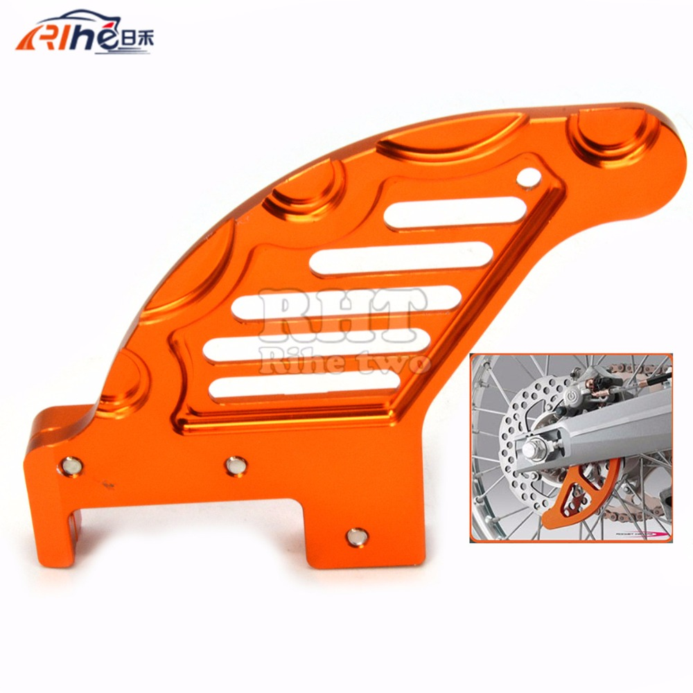 Motorcycle CNC Aluminum Rear Brake Disc Guard Potector For KTM SX/XC/XC-W/EXC 2003-2015 Husaberg TE 125/250/300 2011-2014 ceramic composite brake pads fit for rear motocross ktm exc 125 250 1995 2003 200 exc egs 1998 2003 motorcycle accessories