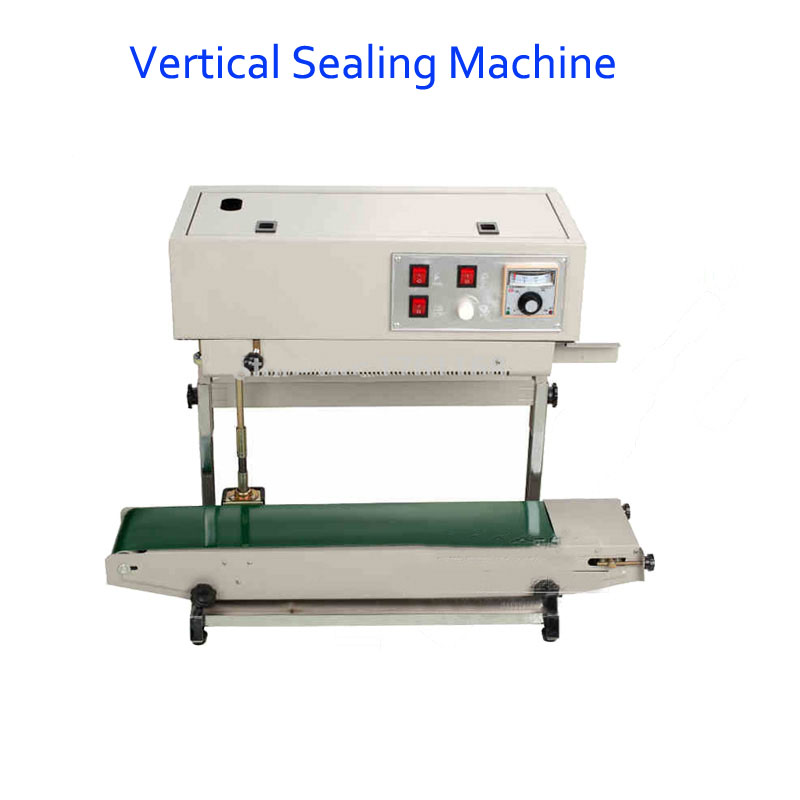 Vertical Sealing Machine For Plastic Bag Popular Plastic Bag Sealer Print Date FR-900v fr 900l vertical heat sealer sealing machine automatic continuous plastic bag sealing machine steel wheel print