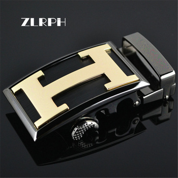 ZLRPH Famous Brand Belt Buckle Men Top Quality Luxury Belts Buckle for Men Strap Male Metal Automatic Buckle cowskin leather smooth buckle belts for men high quality double v buckle male strap famous brand genuine leather men belt