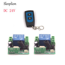 цена на Sleeplion 24V 1 CH 1CH RF Wireless Remote Control Switch System 315/433 MHz 1/2/3 Transmitter + Receiver