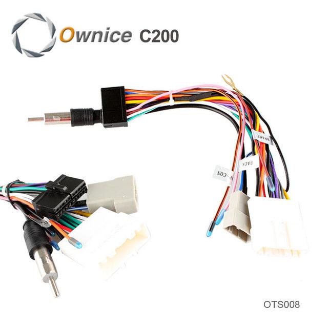Conector iso cabo para a série nissan usado em ownice sistema de entretenimento do carro, apenas apto para ownice dvd