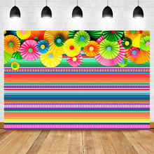 Mexican Fiesta Theme Backdrop Cinco De Mayo Colorful Stripes Photo Backdrops Birthday Baby Shower Photography Background