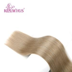 Image 5 - K.S WIGS 24 100 กรัม/ชิ้นตรง Remy Weft Human Hair Extensions Double วาดมนุษย์ผมสานการรวมกลุ่ม