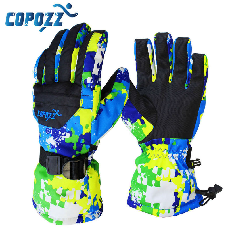 COPOZZ Men Snowboard Gloves Ski Gloves Snowmobile Motorcycle Winter Skiing Riding Climbing Waterproof Snow Gloves Free Shipping