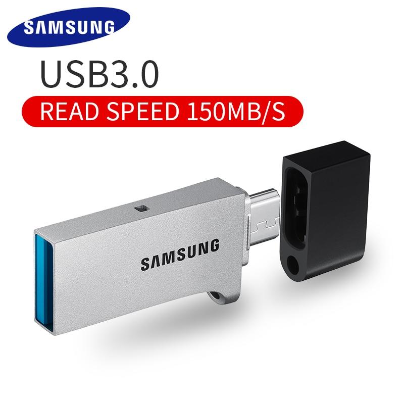 D'origine SAMSUNG OTG USB Flash Drive 32 gb 64 gb 128 gb 150 mb/s USB 3.0 micro Pen drive Mémoire périphérique de Stockage de bâton U Disque