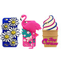 For iPhone 5/5s 6/6s 6plus Flamingo Coque for iPhone 3D Little Daisy Smiles Sunflower Dancing Bird ice cream Funda Silicon Cases