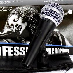 Profesjonalne PG 58 przełącznik ręczny mikrofon dynamiczny wokal mikrofon przewodowy do Karaoke mikser DJ PC sceniczne KTV śpiew mowy wzmacniacz
