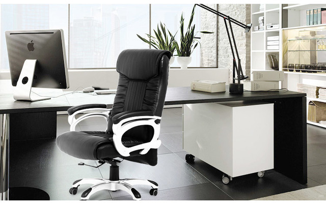 Bureaustoel computer rotatie zwart kruk studie