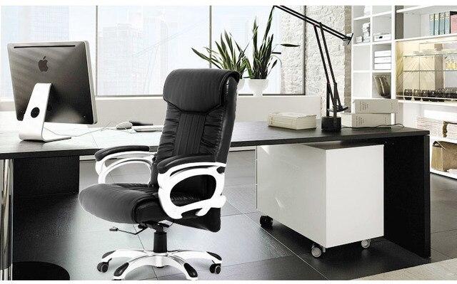 Chaise de bureau ordinateur rotation noir tabouret étude hall d