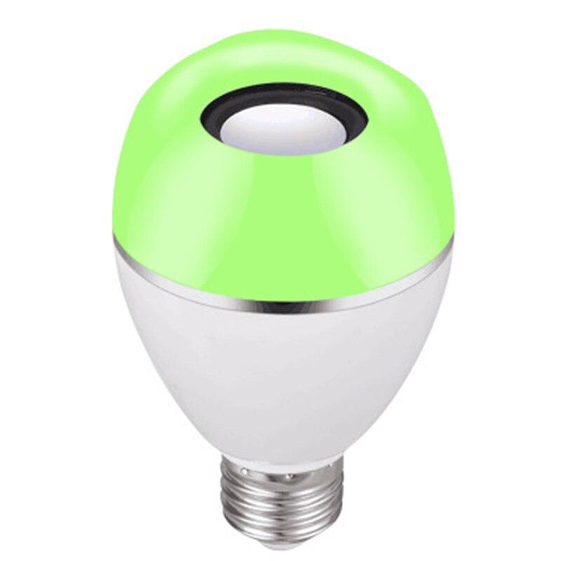 JLAPRIRA динамик Bluetooth лампы E27 светодиодный RGB свет Музыка лампа Изменение цвета через Wi Fi приложение управление плеер беспроводной 110 В 220 В - 3