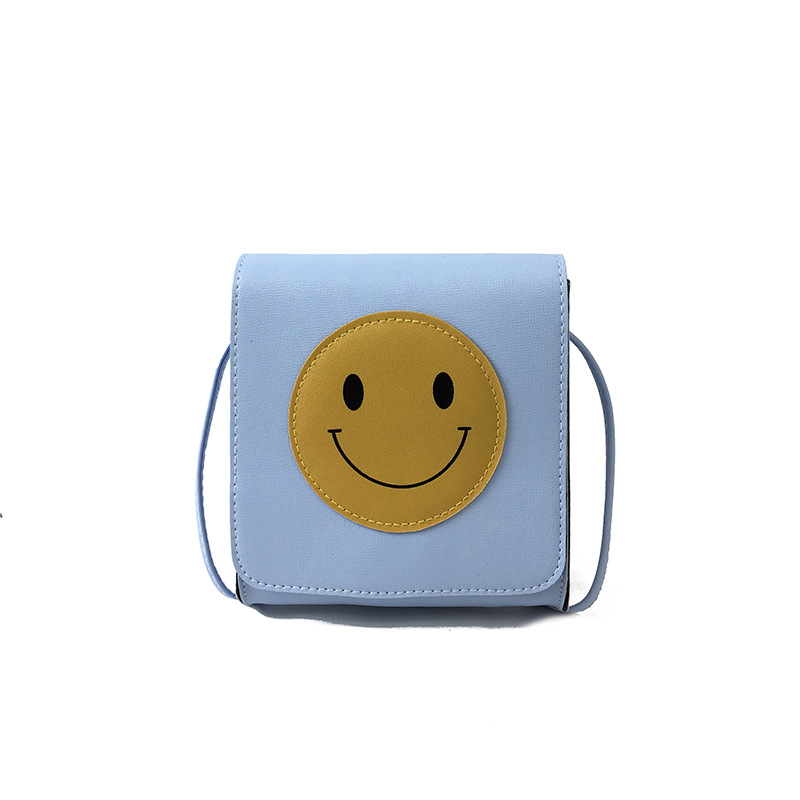 Smiling face upright square PU Leather Women Crossbody Bags Fashion Color Women Shoulder Bags Shoulder Strap Ladies Bag-45