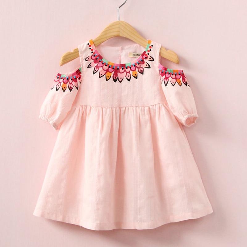 2017 kids dress for girl fashion spring dress cotton clothing princess casual dress