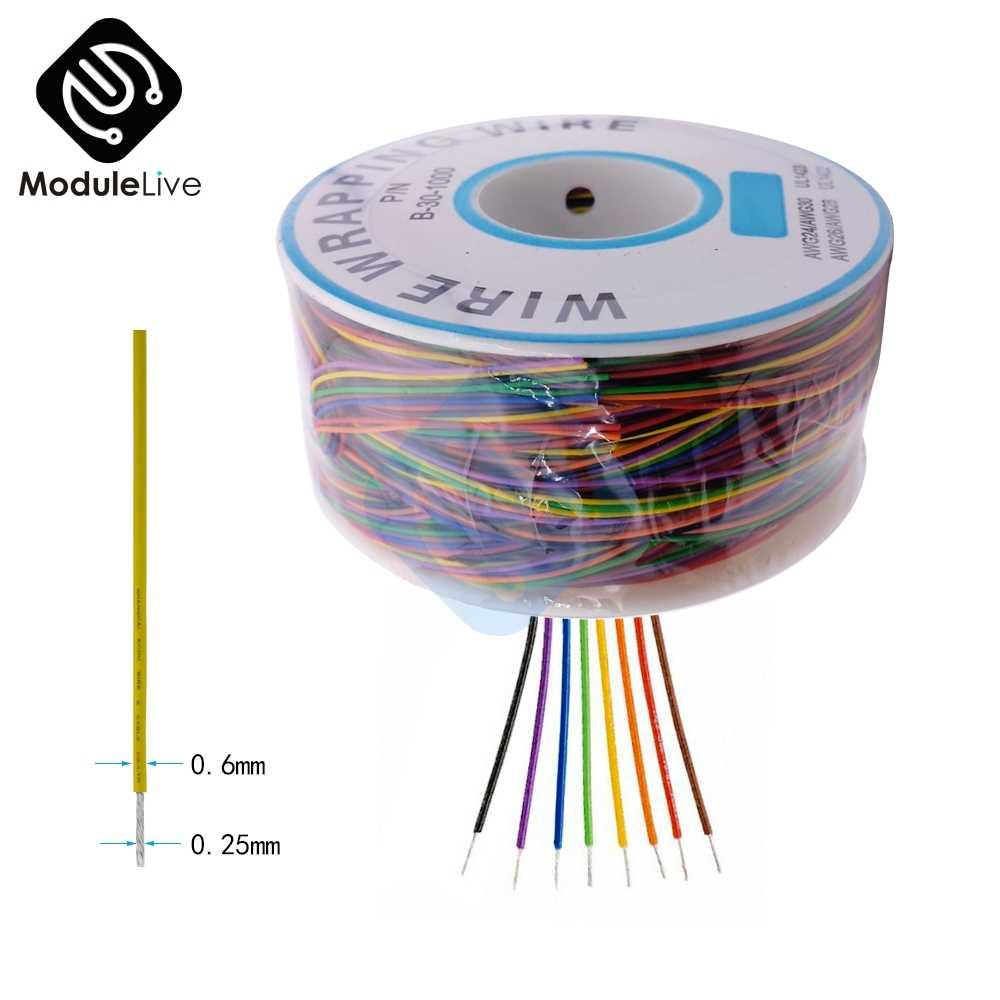 Фото Обмоточный провод кабель 280 м 30 AWG B 1000 AWG30 макет перемычка цветная изоляция