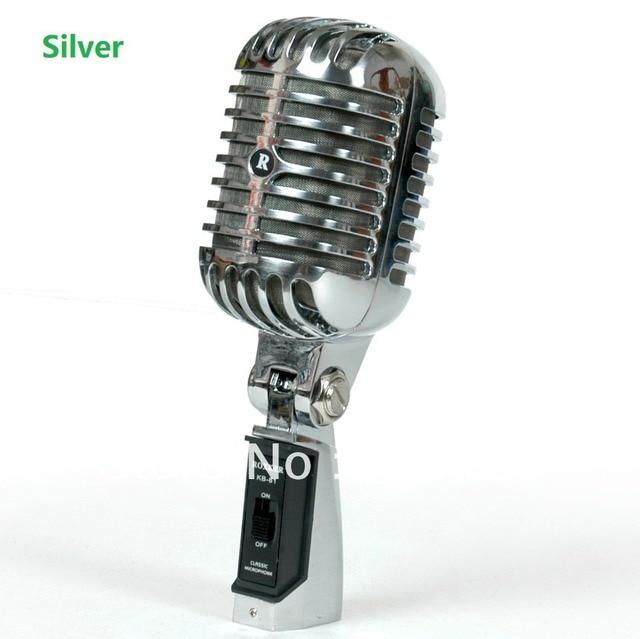 Profesional Dinamico Microfono Retro Estilo Vintage Estilo Antiguo