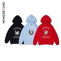 UNCLEDONJM Men Street wear Funny Boys Casual Fleece Hooded Pullover Hoodies Men/Women Casual Hooded Streetwear Sweatshirts 488W