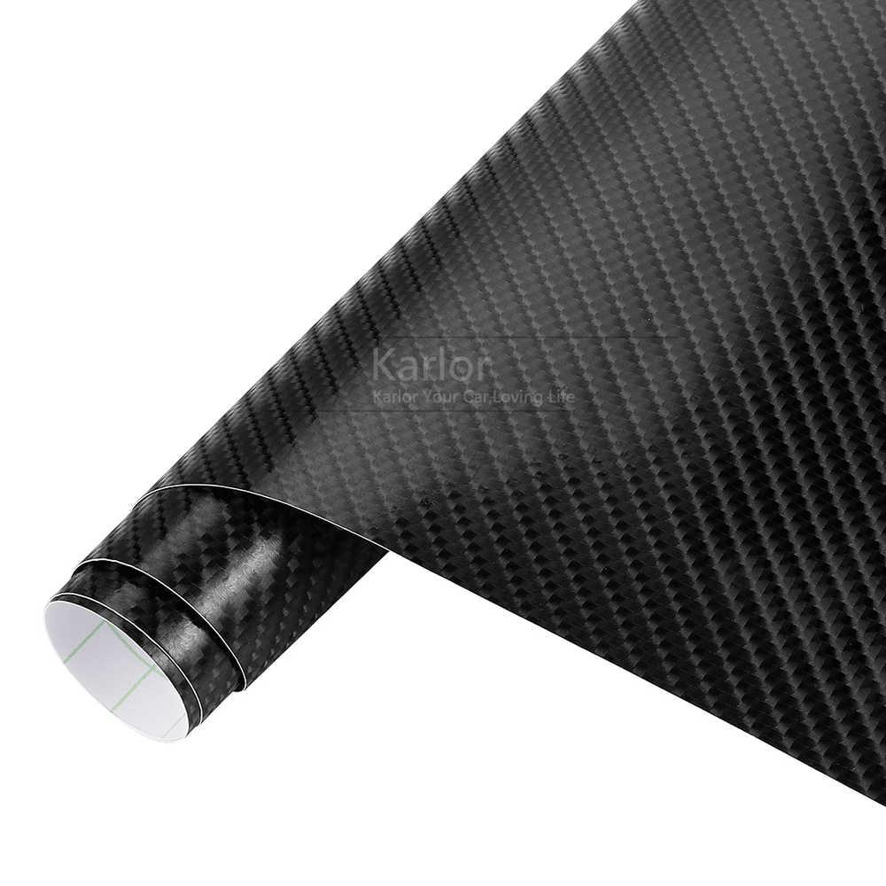 152cm * 10/30/50cm 4D Película de vinilo de fibra de carbono pegatinas de coche impermeable DIY motocicleta envoltura de estilo de coche Auto envoltura de papel de vinilo