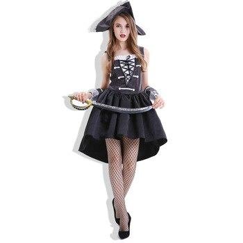 Disfraces de Halloween 2019 para mujer, ropa Sexy, disfraces de juego de rol, Pirata, Capitán, navegador, Cosplay, traje de fiesta de Carnaval