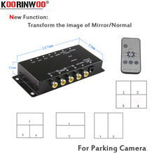Koorinwoo Control Box Four Channels Available for Car Rear view Camera Video Aut
