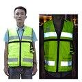 Alta Vis Unisex Estrada Reflexiva Segurança Vest com Bolso Multi Funcional para a Segurança do Tráfego e Local de Construção Frete Grátis