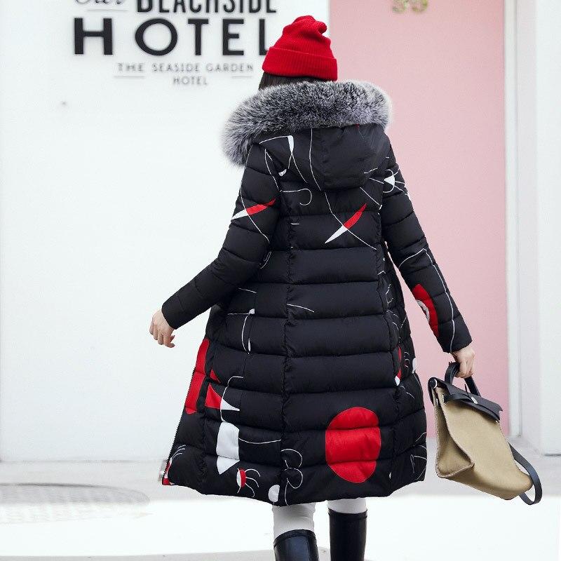 6b8d59fe23e2 Women Winter Black Puffer Parkas 2018 Female Two Side Wear Hooded ...