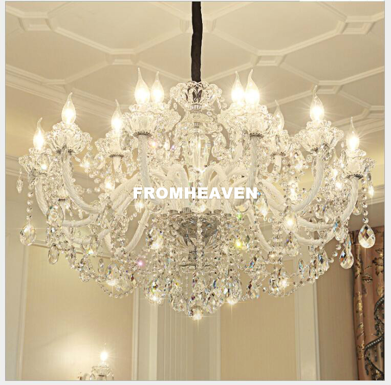 Modern K9 Crystal Chandelier Lustre 18arms D90cm Lights Lustres De Cristal Chandelier LED Villa Home Decora Crystal ChandeliersModern K9 Crystal Chandelier Lustre 18arms D90cm Lights Lustres De Cristal Chandelier LED Villa Home Decora Crystal Chandeliers