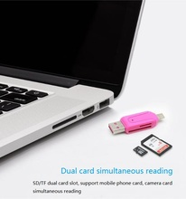 Микро-USB и USB 2 в 1 OTG кард-ридер высокая скорость USB2.0 универсальная система TF/SD для телефона заголовков расширения компьютер Андроид