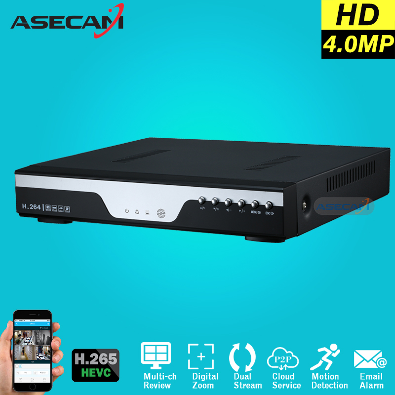 Super 4MP 5MP 1080P H.265 NVR Digital Video Recorder Security IP Camera Onvif Network CCTV 8 Channel Multilanguage Alarm techage h 265 h 264 8ch 48v poe ip camera nvr security surveillance cctv system p2p onvif 4 5mp 8 4mp hd network video recorder